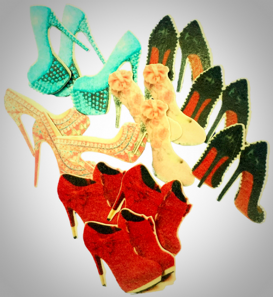 Edible cake toppers - ladies shoes
